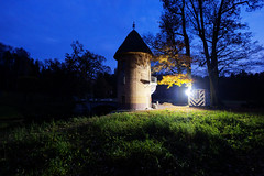 Little Tower at night (fedoseenko) Tags: санктпетербург россия красота colour природа beauty blissful loveliness beautiful saintpetersburg art shine dazzling light russia green park peace garden blue white голубой небо лазурный color sky pretty sun пейзаж landscape view heaven mood summer serene golden gold palace дворец colours architecture building road tree grass nature alley history trees stairway walkway d800 outdoors night ночь 1735mmf28d pavlovsk павловск