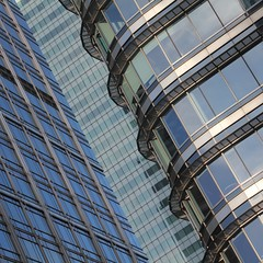 Simple Abstract 32 (No Great Hurry) Tags: thenakedabstract londonarchitecture isleofdogs linesandcurves windows buildings lookingup architectureontheslant constructuralart square architecture abstract structures curves canarywharf robinmauricebarr nogreathurry outside light city perspective building structure creative