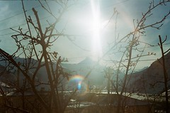 (Tamar Burduli) Tags: tamarburduli analog film 35mm nature landscape travel mountains mountainscape sun light rainbow trees treeporn georgia kazbegi stepantsminda arsha morning zenit grain fuji fujifilm