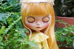 Vintage Ruffle Top (Ylang Garden) Tags: blythe top yellow pant ruffle momoko