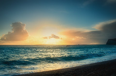 Sunset ... (Julie Greg .. Holiday 13/12 - 31/12 2018) Tags: sky sunset sea nature colours texture water weather clouds sand ocean beach