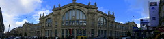 Gare du Nord Paris (DONTORBO) Tags: paris bahnhof gare du nord zug zugverkehr bahn hauptbahnhof panorama fz300 north station terminus sncf france train tgv track tracks people arrival hall building europe railway eisenbahn frankreich photoshop topaz architektur stadt