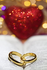 LOVE (mikroman6) Tags: love heart ring weeding book bible light bokeh circle lens flare gold symbol valentines day romantic