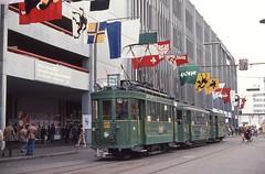 1978-04, Basel, Messeplatz (Fototak) Tags: tram strassenbahn bvb basel switzerland muba 181 1318 1206