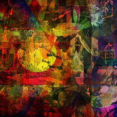 subtext... (Mark Noack) Tags: light color photoshop layer layering surreal expressionism abstract psychedelic futurist abstraction awardtree shockofthenew