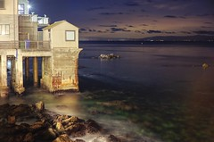Carmel by the sea, Pacific Grove by god, and Monterey by the smell (PeterThoeny) Tags: monterey california usa shed building night outdoors sea pacific pacificocean ocean water sky waves longexposure sony a7 a7ii a7mii alpha7mii ilce7m2 fullframe vintagelens dreamlens canon50mmf095 canon 3xp raw photomatix hdr qualityhdr qualityhdrphotography fav200