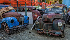 Old Car Junk Yard - Deroche, BC (SonjaPetersonPh♡tography) Tags: hdr oldcars scrapmetal rust cars rustyrelics decay antiques oldclassiccars bc britishcolumbia canada nikond5300 nikon metal carssforsale rusty rustic scrap junk junkyard oldclassics