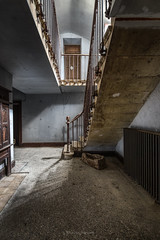 Following the way (ForgottenMelodies) Tags: urbex building decay abandonné exploration lost indoor stairs abandoned pentax k3 oublié france castle forgotten europe derelict urban irix 11mm
