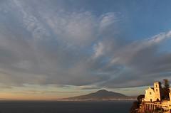A classical view... (modestino68) Tags: tramonto sunset chiesa church vulcano vulcan vesuvio vesuvius mare sea cielo sky nuvole clouds luce light vicoequense
