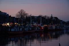 an evening in Warnemünde III (ericgrhs) Tags: sky boats ostsee balticsea warnemünde rostock reflections evening sunset sundown lights