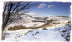Winter Wonderland...when the snow paints the picture (Kevin_Barrett_) Tags: ireland wicklow snow landscape scenic scenery serene trees sky valley loughtay luggala