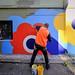Nico & Mike Watt painting in Surry Hills