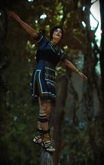 Shadow of the Tomb Raider (Matze H.) Tags: shadow tomb raider lara croft blue tunica outfit shoes sandals dress feet face hair jungle ballance pose playstation 4 pro uhd hdr 4k wallpaper screenshot