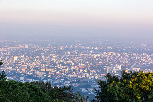 View on Chiang Mai from Wat Phrathat Doi Suthep