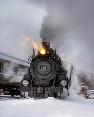 Plowing a little snow (Erik C. Lindgren) Tags: coloradorailroadmuseum steamengine steamlocomotives steamtrains steam snow colorado coloradorailroads coloradotrains