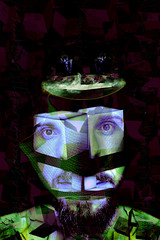 little house with rainbow (Mau Silerio) Tags: model gabriel bota face portrait geometry cubes writer poet artist cluj romania romanian surreal surrealism surrealisme alterego psychology phylosopher colorful sony alpha