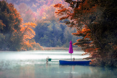 Autumn sonata (Dragan Milovanovic photography) Tags: draganmilovanovicphotography scenery sonyslta77ii sonyilca77m2 autumn landscapes light lake water waterscape mood morning misty mist fall fog foggy forest foliage scenic boat nature peace reflection relaxation relax tree tranquil paysage people sony sunrise