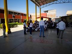 Coordinamos y supervisamos el ejercicio de simulacro por Sismo en la escuela Morelos del municipio de Ocotlán de Morelos