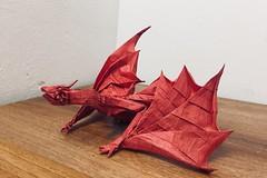 Smaug (Lê Huỳnh Đức) Tags: origamidragon origami fantasy smaug art paper thehobbit