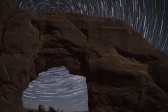 Arches Star Trail (Long Exposure Art (L~EX~A)) Tags: arches arch nationalpark nationalparks utah moab startrail travel longexposure nikon tamron beautiful night stars