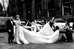 "Wow, that's what I call a wedding dress drag, not to mention the cars! (Janne Räkköläinen) Tags: be ""blackwhite"" bw bow ""amateurphotography"" public ""weddingphotography"" ""iphone7"" november 2018 snapshot shot ""streetshot"" fiancé central australia sydney ""iphonephotography"" iphone ""streetphoto"" happy dress dresses bridesmaids bride pride posing people amateur ""rollsroyce"" car rolls ""streetphotography"" street citylife city urban show ""weddingdress"" wedding"