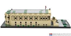 Berlin's Alte Nationalgalerie Lego MOC (Side View)) (dayman1776) Tags: berlin berliner germany german art museum lego legos brick bricks bricklink studio 3d render beautiful cool neoclassical architecture micro microscale scale nano nanoscale building deutschland