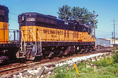 MILW 546 at Chicago Ridge, IL (dl109) Tags: themilwaukeeroad sd10