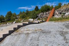 Stairway to Heaven (Role Bigler) Tags: bluesky canoneos500d efs15853556usm efs1585mmf3556isusm hellaga norge norwegen rana stairwaytoheaven norway rustystair sky stair