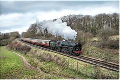 70013. Kinchley Lane. (Alan Burkwood) Tags: gcr kinchleylane br standardclass7pbritannia 70013 olivercromwell steam locomotive passenger train