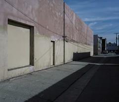 Wall and wire (ADMurr) Tags: la southla wall alley mamiya 7 kodak ektar overexposed wire 6x7 80mm dac0682