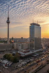 TV Tower & Skyline at Sunset - Berlin (Light Levels Photoworks) Tags: architecture architektur allemagne adventure atmosphere alexanderplatz berlin berliner fernsehturm city cityscape clouds deutschland germany haupstadt stadt street landscape landschaft mitte outdoor perspectives paysage photography perspektive panorama photo sonnenuntergang skyline sunset streets tower turm tv urban view viewpoints world wetter wolken wideangle weather