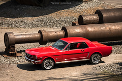 Red 1964 Ford Mustang Coupe (Dejan Marinkovic Photography) Tags: 1964 ford mustang coupe american classic car red ponycar