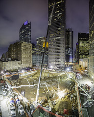 Texas Tower Mat Pour 9 - Night (Mabry Campbell) Tags: cemex gilbane harriscounty hines houston texas texastower usa architecture building concrete construction design downtown engineering foundation image photo photograph f71 mabrycampbell march 2019 march92019 20190309untitledcampbellh6a4467panopano 24mm 25sec 100 tse24mmf35lii