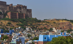 Aerial view of Jodhpur, India (phuong.sg@gmail.com) Tags: aerial ancient architecture asia asian beautiful blue building city cityscape culture destination evening famous fort fortress heritage hill historic historical history home house india jodhpur landmark landscape mehrangarh old outdoor palace panorama rajasthan roof sky sunset top tourism town traditional travel unesco urban view