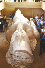 Preserved statue of Ramses II (M McBey) Tags: egypt ancient pharaoh 1984