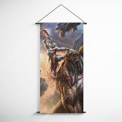 God Of War 25 Kratos Decorative Banner Flag for Gamers (gamewallart) Tags: background banner billboard blank business concept concrete design empty gallery marketing mock mockup poster template up wall vertical canvas white blue hanging clear display media sign commercial publicity board advertising space message wood texture textured material wallpaper abstract grunge pattern nobody panel structure surface textur print row ad interior