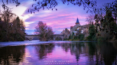Varilhes #4 (Thaurin Geoffrey Photographie) Tags: france ariège varihles paysage landscape cityscape sony a7ii water pink rose eau riviera ville riviere nature love sk ciel cloud nuage sunset color