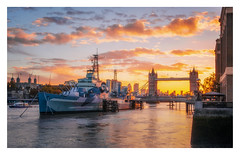 Good Morning London (Rich Walker Photography) Tags: london sunrise ship hms belfast towerbridge bridge thames river riverthames city morning landscape landscapes landscapephotography cityscape cityscapes cloud clouds colour canon england efs1585mmisusm eos eos80d
