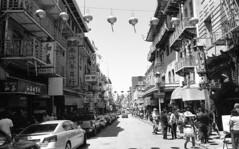 crosswalk (blakeboulka) Tags: 35mm blackandwhite ilford delta100 film bw delta bnw walking exploring chinatown crosswalks sanfrancisco grainy manual analog nikon f3
