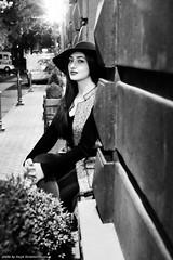 Night portrait of Ani. (Hayk Senekerimyan) Tags: portrait night light hat girl yerevan armenia beauty linda bela belleza beleza fujifilm wall coat fujinon