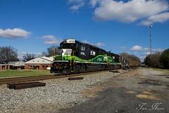 NS G34 at Rockmart (travisnewman100) Tags: norfolk southern ns train freight manifest railroad rr locomotive emd gp33eco slug set georgia division rockmart g34 atlanta north district