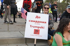 Woman's March 2019 (Lynn Friedman) Tags: embarcadero outside sign russian trump womansmarch politics gender equality resistance sanfrancisco california usa 94111