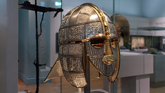 Reconstruction of the Sutton Hoo helmet (profzucker) Tags: sutton hoo suttonhoo shipburial hibernosaxon treasure britishmuseum bm england uk britain eastanglia king royal trade smarthistory art jewelry medieval middleages migrations history arthistory