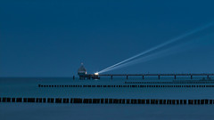 Pier Zingst Baltic Sea (norbert.wegner) Tags: sea coastline water lighthouse blue sky architecture harbor famousplace pier travel outdoors beach nature europe vacations transportation builtstructure day