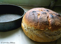 April 4th, 2019 Bread (karenblakeman) Tags: bread sourdough food bakingtin 2019 2019pad april uk
