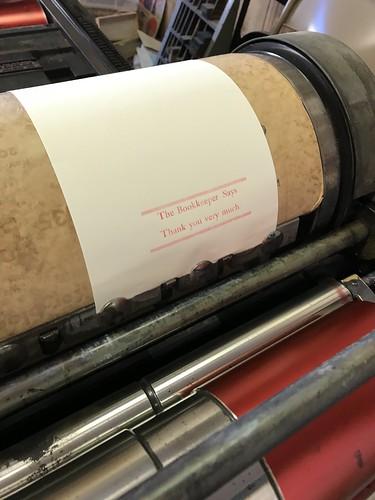 April's letterpress lesson