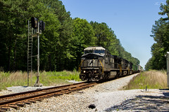 Careful What You Wish For (travisnewman100) Tags: kansas city southern norfolk kcs ns train railroad freight intermodal signals meridian subdivision transcontinental division c408w ge locomotive iatda