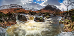 Glen Etive ... (Mike Ridley.) Tags: panorama glenetive scotland waterfall snow mountains sonya7r2 sonyfe1635f4 leefilters mikeridley winter scotishhighlands