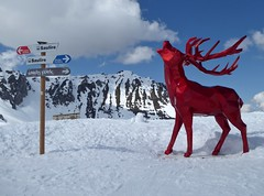 Saulire Deer (chdphd) Tags: courchevel richardorlinski orlinski