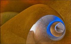 La cage dorée. (*Jost49* (±Off)) Tags: architecture escalier cage colimaçon starcase colmar musée unterlinden alsace